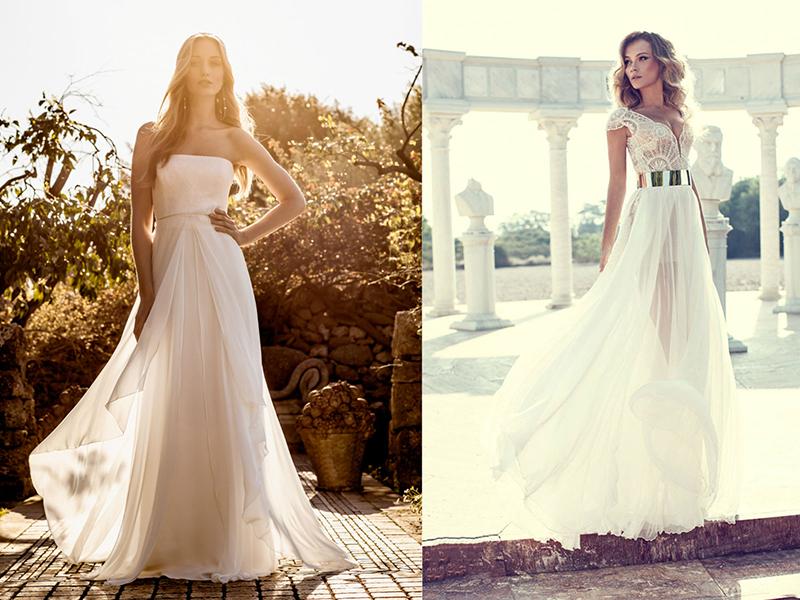 Свадебное легкое пляжное платье