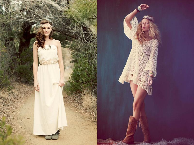 Свадебное платье в стиле бохо – естественность и гармония образа