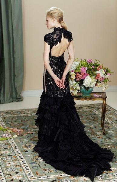 Черно-белые платья выбираем доминирующий цвет