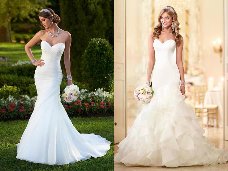 свадебные прически платье со шлейфом
