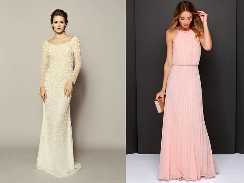 Свадебные платья для 40 летних невест в цветном варианте
