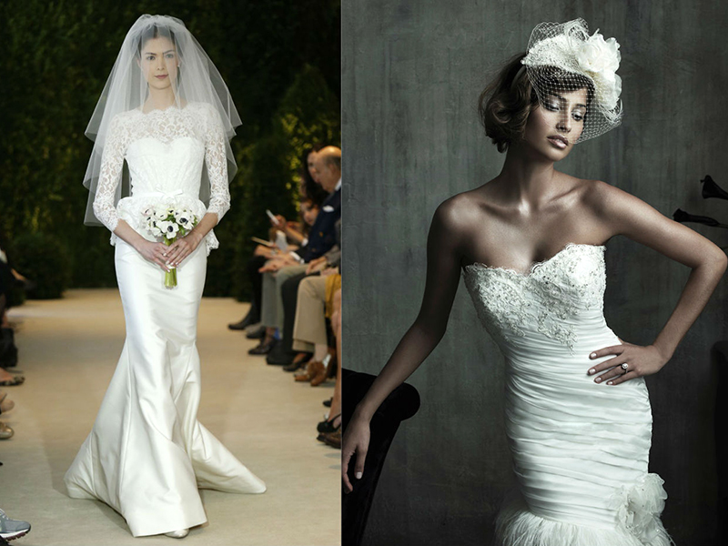 как одевать свадебное платье с прической