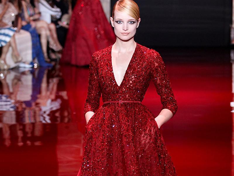 фото вечернее красное платье