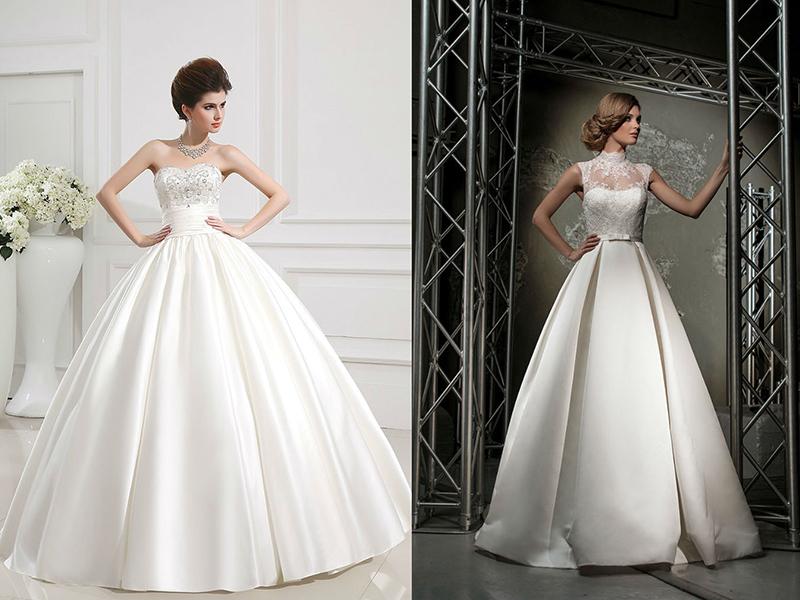Платье с множеством юбок