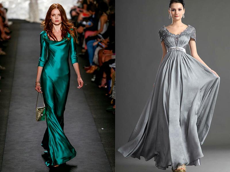 Шелковы платья с цветами