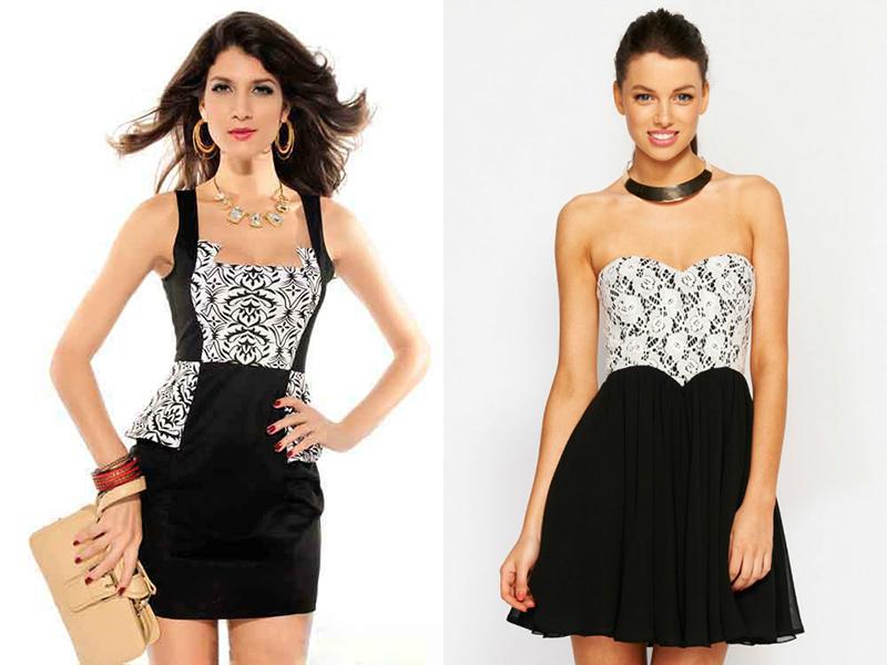 Бело Черное Платье
