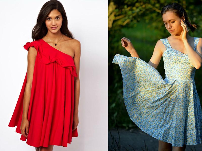 ретро платье красное с белым