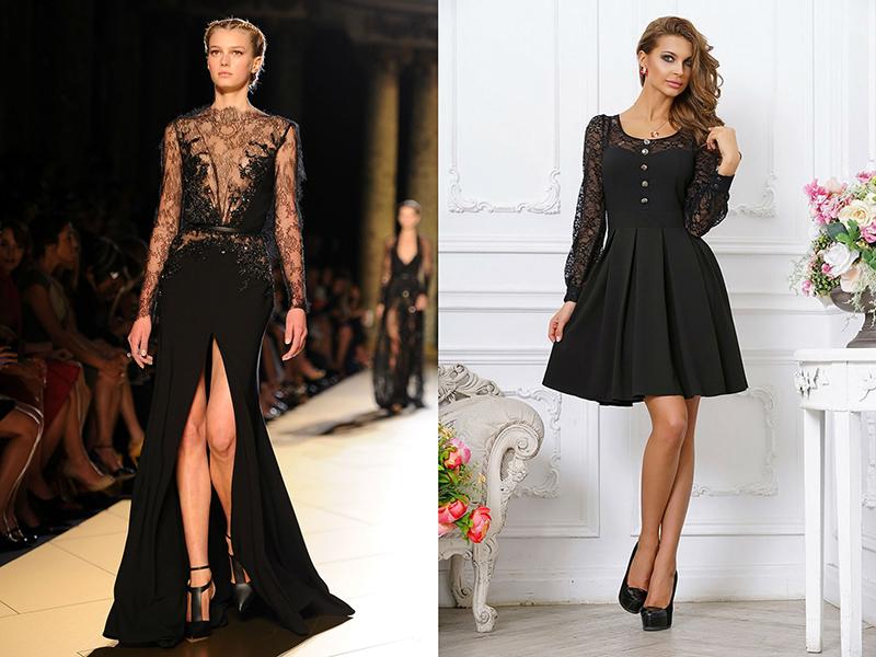 Кружевное платье для худых