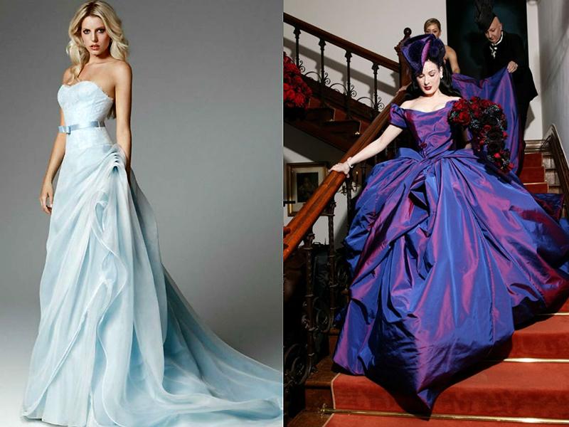 Платья необычного цвета