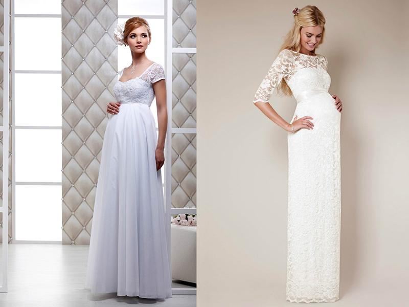 Свадебные платья для беременных: большой обзор существующих моделей, Мода от