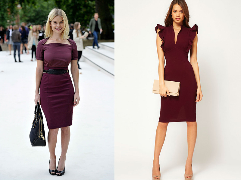 Бижутерия для бордового платья