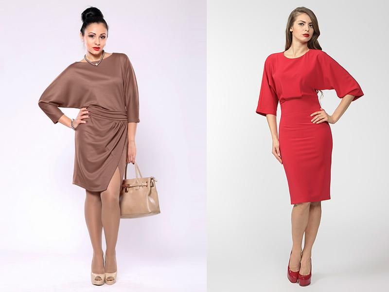Модели платье с цельнокроеным рукавом