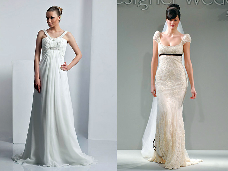 Свадебное простой покрой платье