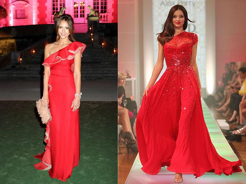 Красные платья с верхом