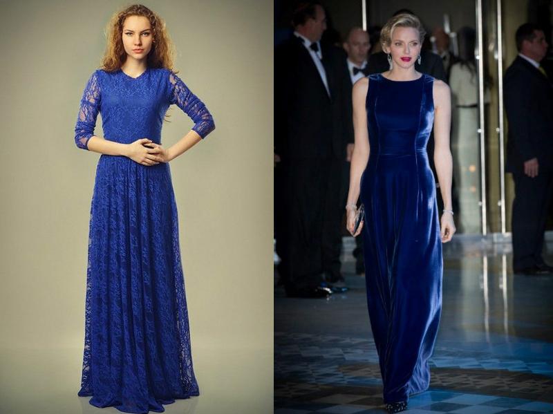 Платье из синего шифона сшить фото 935