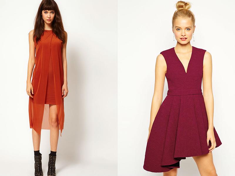 Платья красного оранжевого
