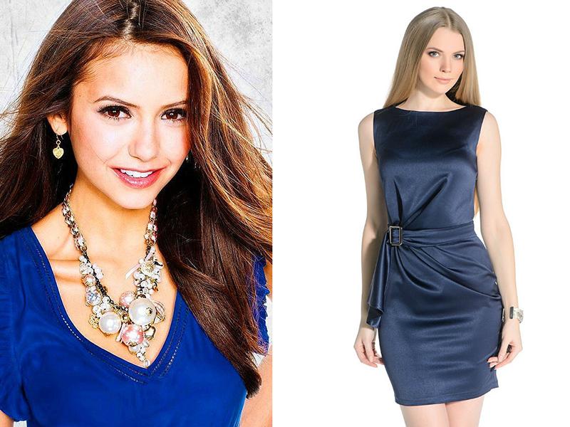 Макияж для брюнеток платье синие