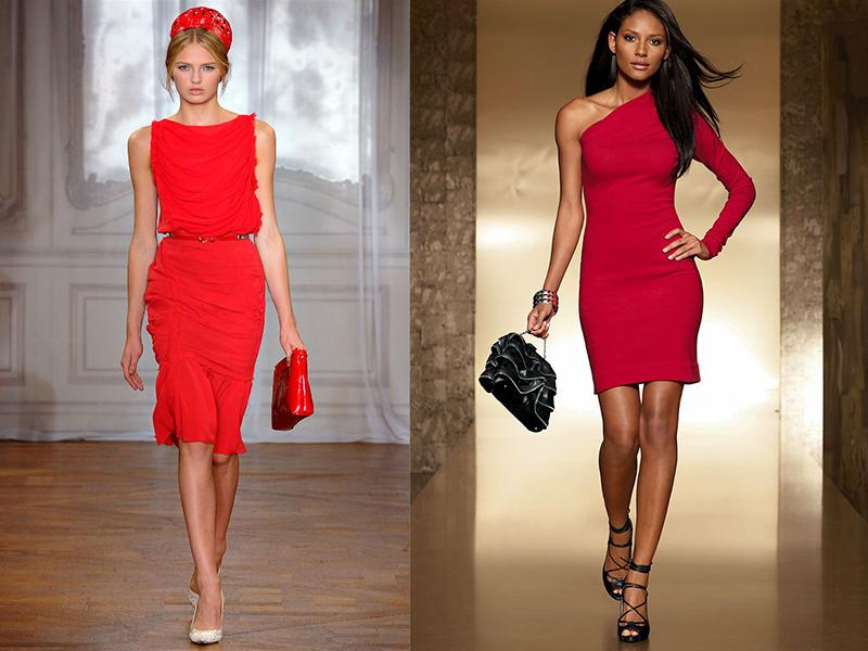 Палантины к красному платью