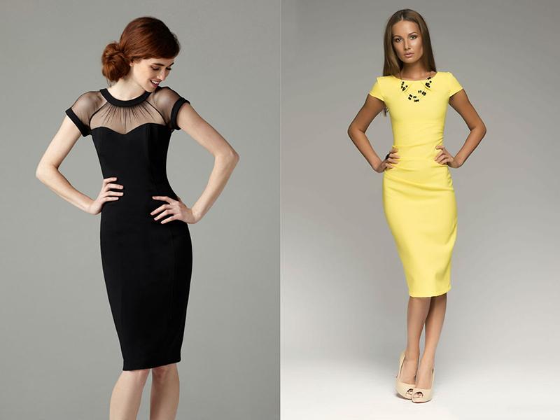 Модели платьев футляр с рукавом