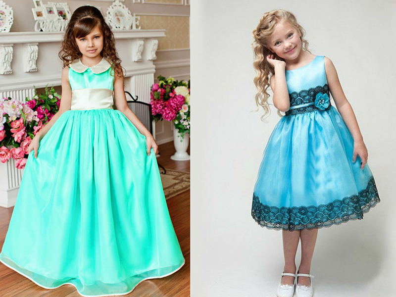 Простые детские платья для сада