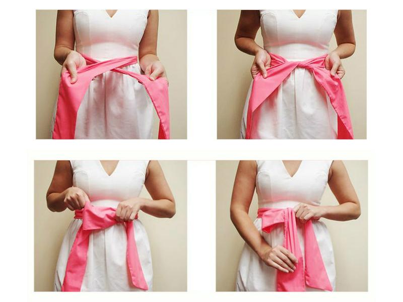 Как сшить красивый пояс для платья 663