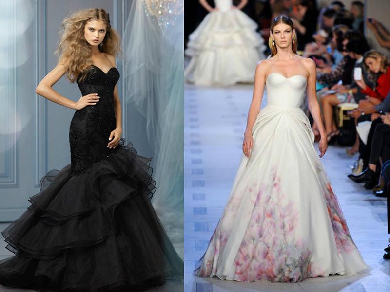 Свадебные платья необычных цвета