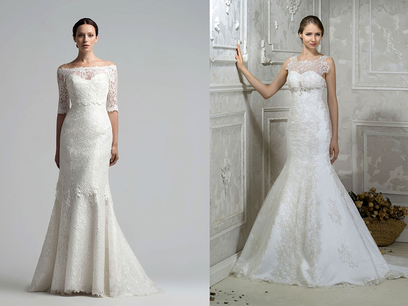 Свадебные платья с кружевным верхом – выбор тонких натур