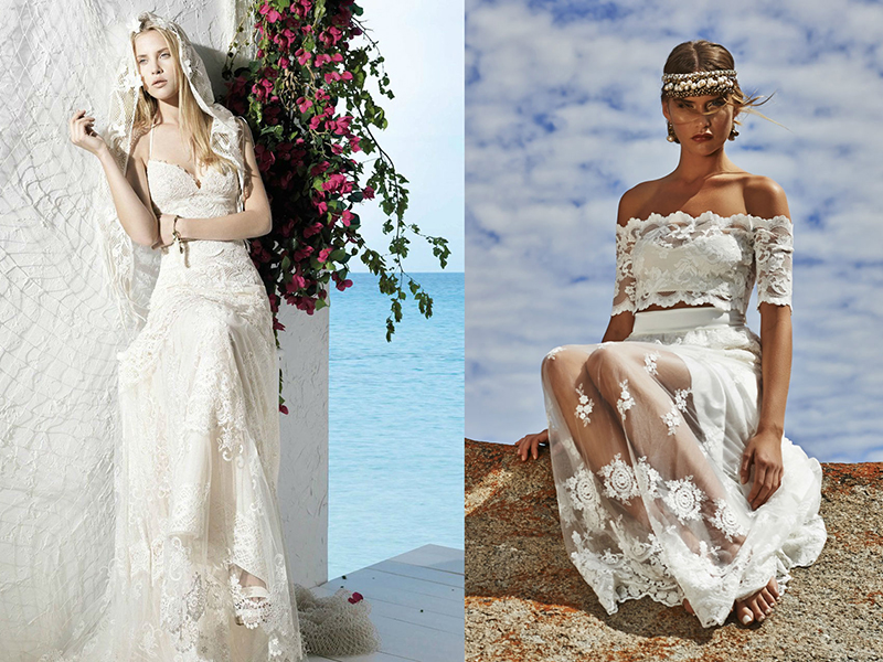 Свадебный платья из ромашек