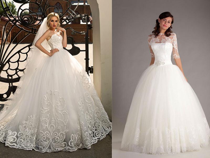 Как пышные формы в свадебном платье