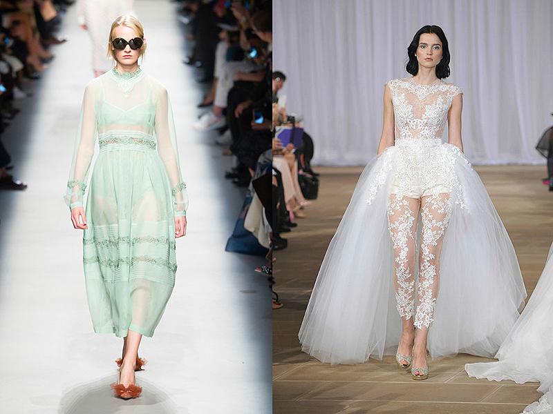 Платье и юбка сверху прозрачная