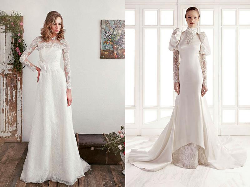 Свадебные платья с рукавом три четверти