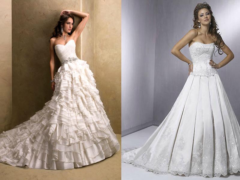 Свадебный корсет и юбка отдельно