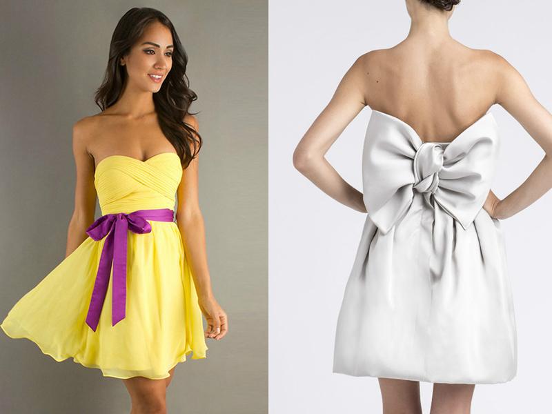 как завязать пояс на платье фото