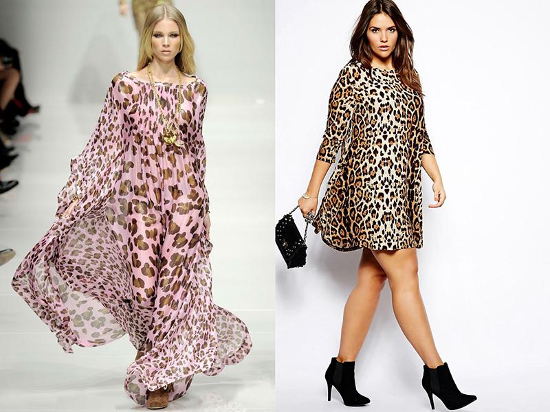 Платья с расцветкой леопарда