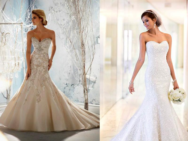 Платья свадебное рыбкой 6