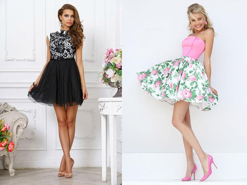 Купить Платье С Шифоновой Юбкой