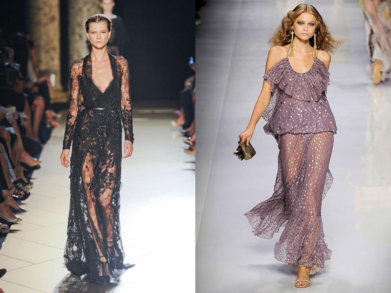 просвечивающиеся платья юбки фото