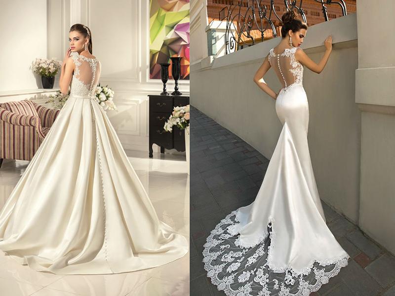 Блестящая свадебная платья фото