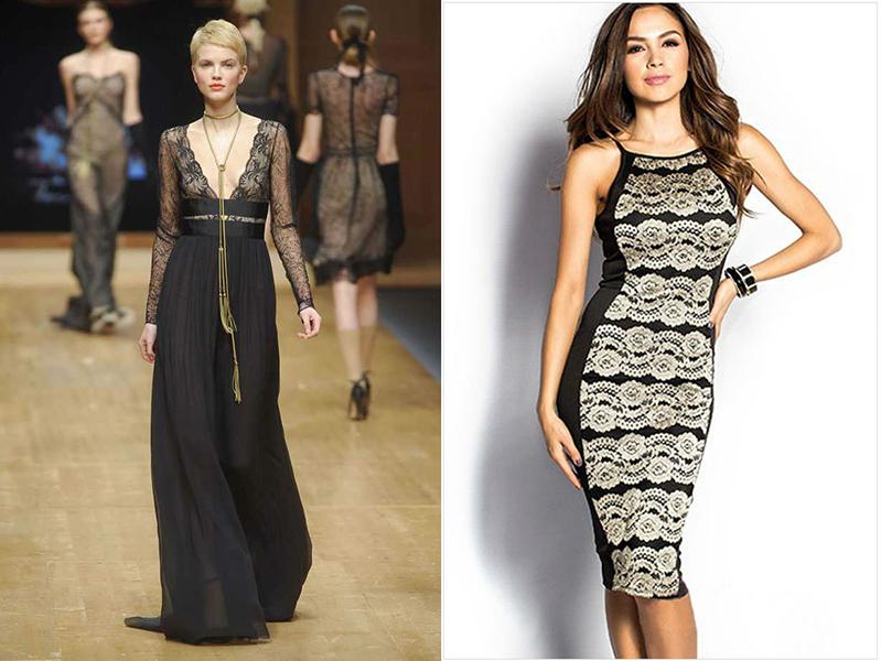 Платье с добавлением гипюра