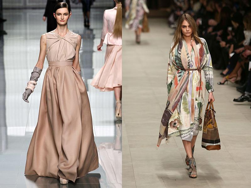 Модели платьев из шелка для женщин
