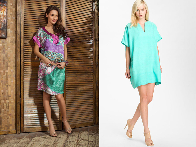 Модели летних платьев туник