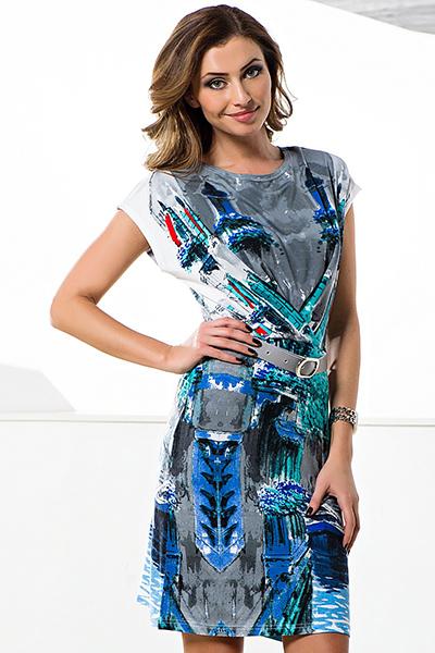 Платье с цельнокроеным рукавом