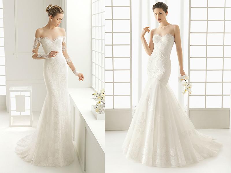 Платья свадебные фасон русалка