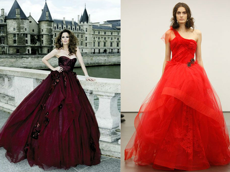 Свадьба невесты в красном платье