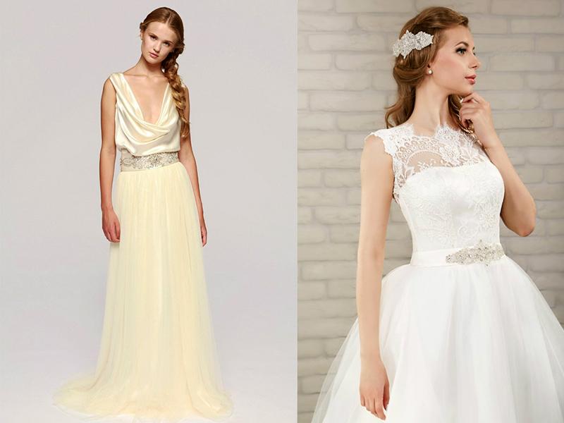 Вышивка на поясе свадебном платье