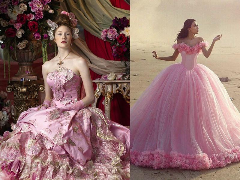 Свадебные платья розового цвета