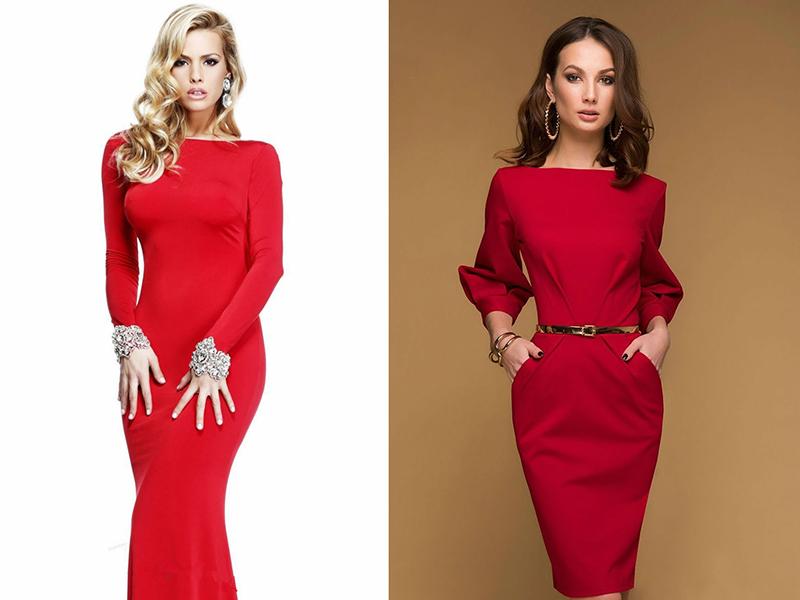 Чем украсить красное платье