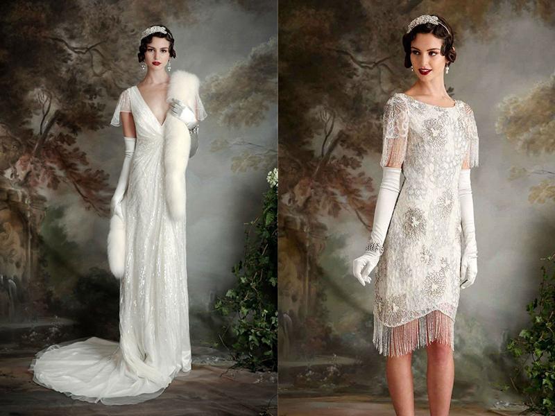 Необычные винтажные свадебные платья