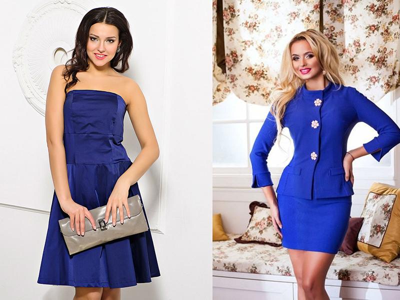 Платья классика синего цвета