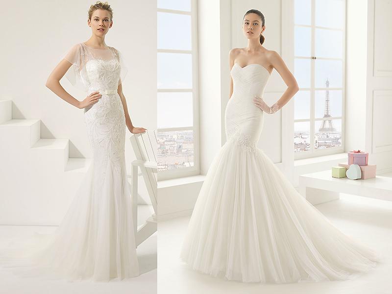 Свадебные платья в форме рыбки